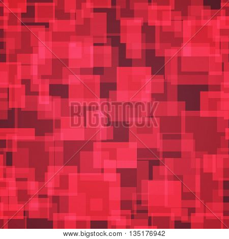 Red color seamless irregular rectangle mosaic vector background