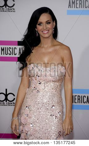 Katy Perry at the 2010 American Music Awards held at the Nokia Theatre L.A. Live in Los Angeles, USA on November 21, 2010.