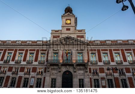 An official building in the center of Madrid, Spain