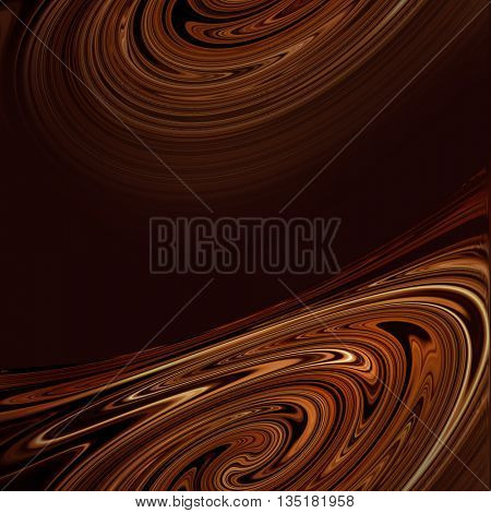 Brown dynamic waves  background. illustration