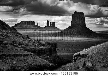John Ford's Point Monument Valley Black and White