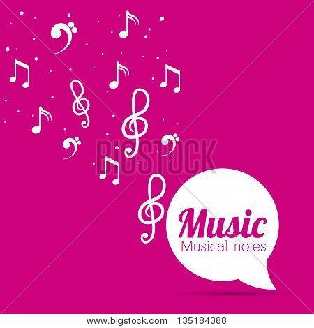 Music notes design, vector illustration eps10 design