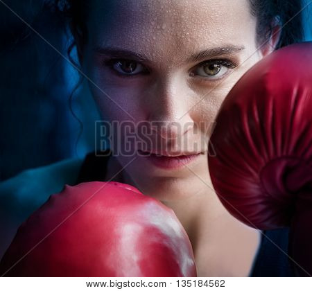 Woman Training Gym Boxing Mma Ring Shadow Boxing Mixed Martial Arts Fitness