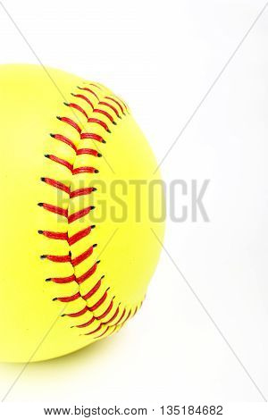 Closeup of a Softball ball for match