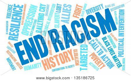 End Racism Word Cloud