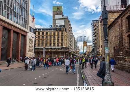 Downtown Bogota Activity