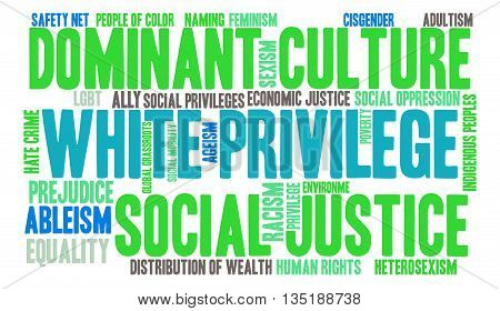 White Privilege word cloud on a white background.