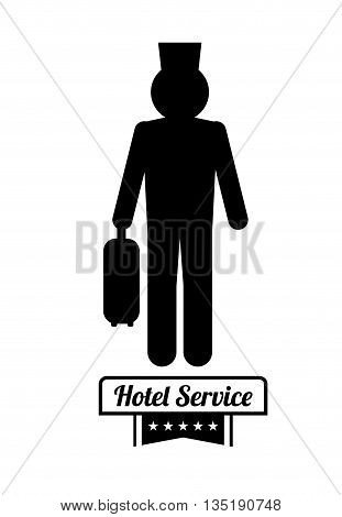 Hotel service icon graphic design, vector illustration eps10