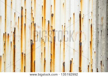 The steel metal with rust texture for background