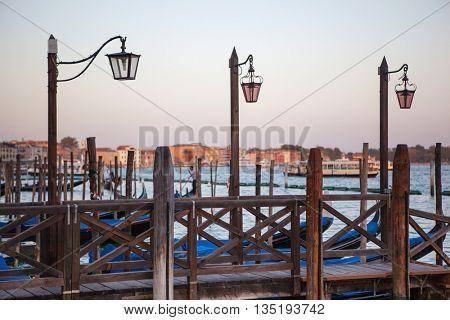 lantern at Canal Grande in Venice