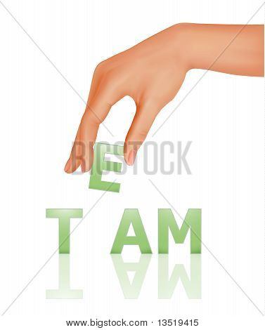 Hand with word Team. Business concept. Vector illustration.