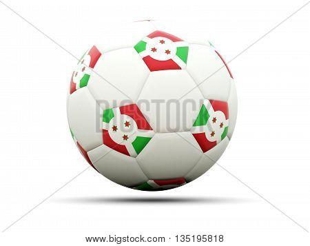 Flag Of Burundi On Football