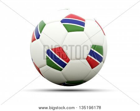 Flag Of Gambia On Football