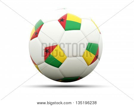 Flag Of Guinea Bissau On Football