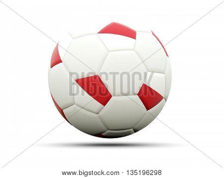 Flag Of Indonesia On Football