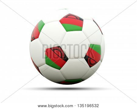 Flag Of Malawi On Football