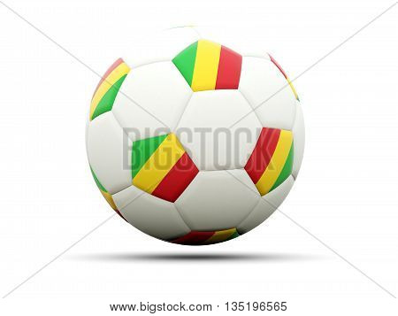Flag Of Mali On Football