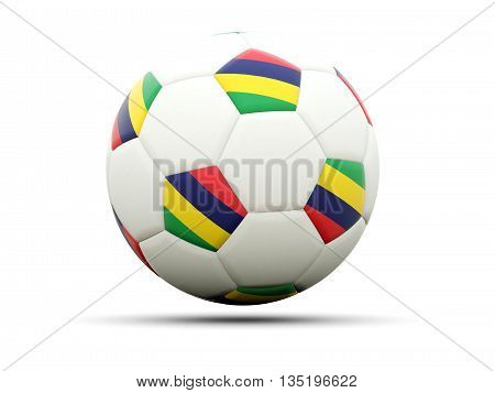 Flag Of Mauritius On Football