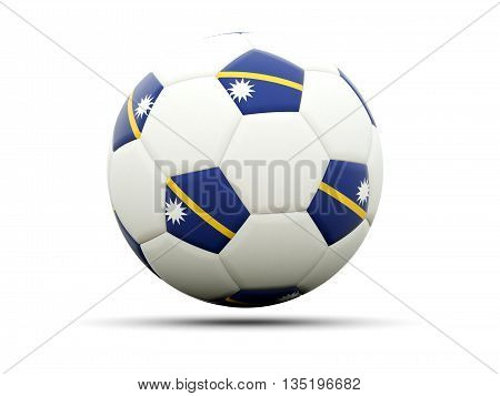Flag Of Nauru On Football