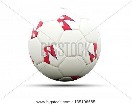 Flag Of Nepal On Football