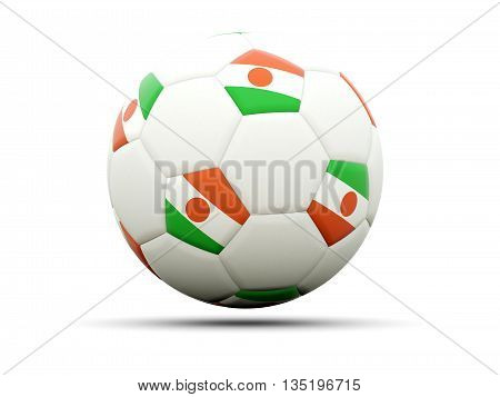 Flag Of Niger On Football