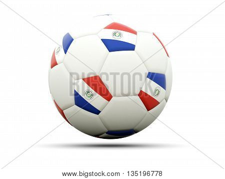 Flag Of Paraguay On Football