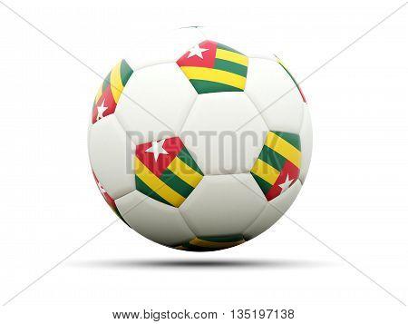 Flag Of Togo On Football
