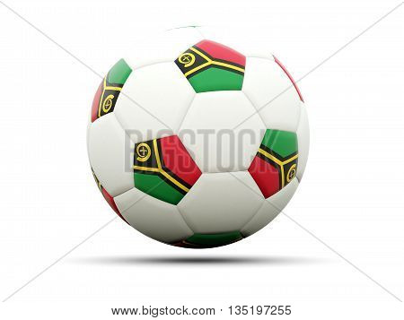 Flag Of Vanuatu On Football