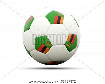 Flag Of Zambia On Football
