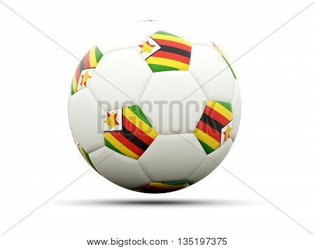 Flag Of Zimbabwe On Football