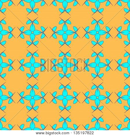 Flowers geometric seamless pattern. Fashion graphic background design. Modern stylish abstract texture. Colorful template prints textiles wrapping wallpaper etc Stock VECTOR illustration