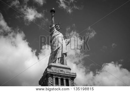 The beautiful Statue of Liberty in New York City
