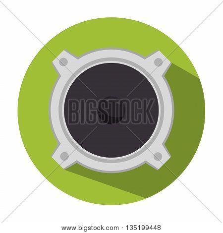 speaker sound isolated icon design, vector illustration  graphic