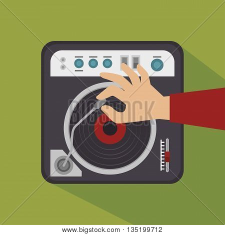 acetates disc player isolated icon design, vector illustration  graphic