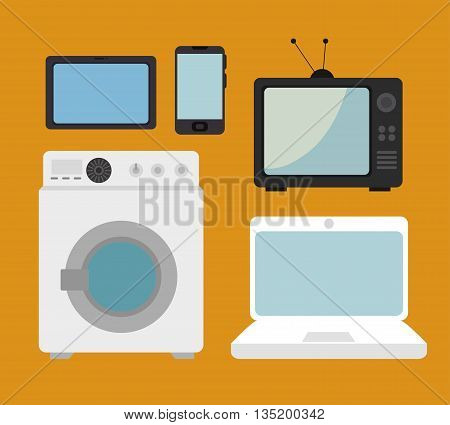 set electronic devices isolated icon design, vector illustration  graphic