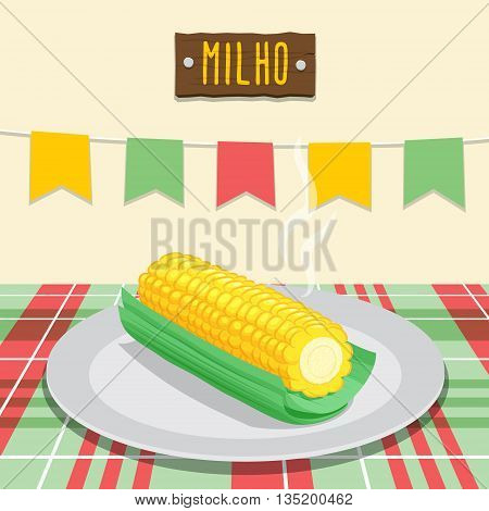 Corn Cob - Festa Junina, brazilian june fest
