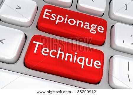 Espionage Technique Concept