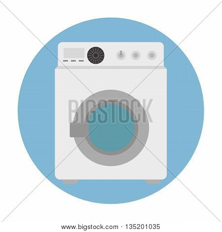 washer machine isolated icon design, vector illustration  graphic