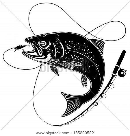 Trout Logo White