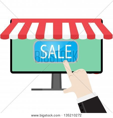 Make online purchases. Online shopping and order online vector illustration