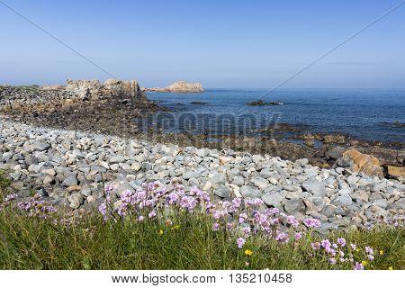 North coast of Guernsey island, UK, Europe