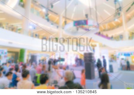 Abstract blur crowd of people at a concert