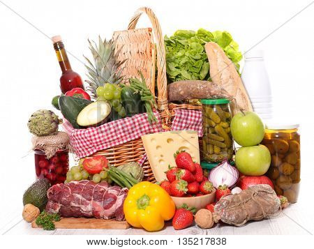 assorted food and drink