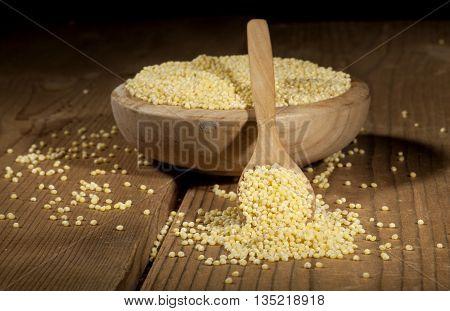 Millet On Wooden Background