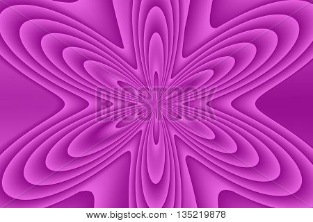 Illustration of an abstract magenta flower in the middle