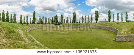 The Rebuild Roman City Of Carnuntum Near Vienna