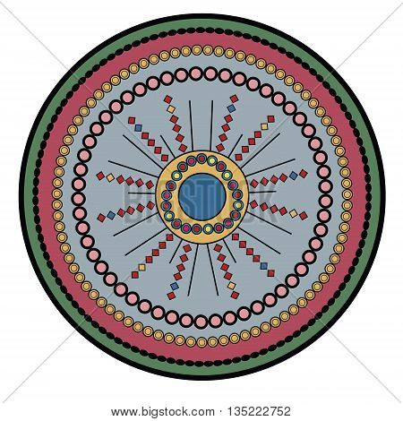 Relaxing circle mandala vector illustration printable sheet abstract background isolated design element
