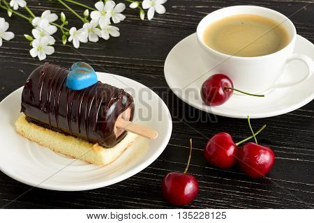 Cup Of Coffee And Cake