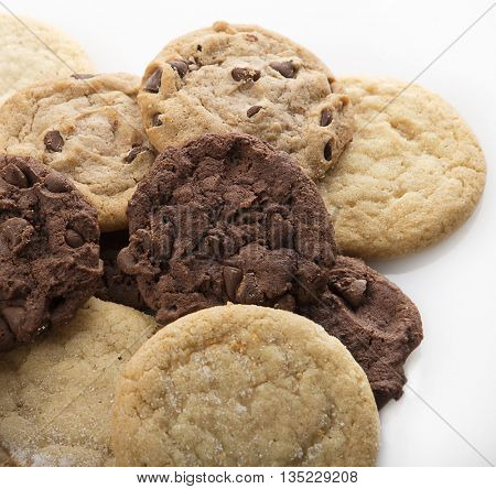 Mixed Cookies on a white background