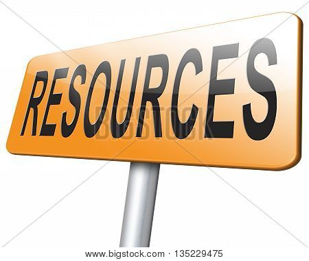 Resources human or natural resource sign roqd sign